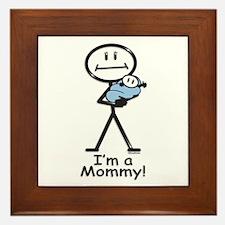 New Mom Baby Boy Framed Tile