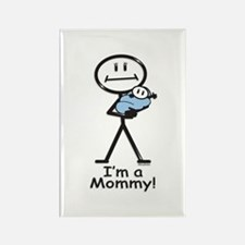 New Mom Baby Boy Rectangle Magnet