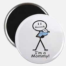 New Mom Baby Boy Magnet