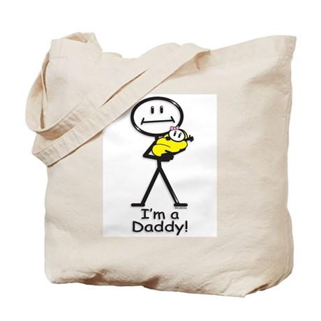 New Dad Baby Girl Tote Bag