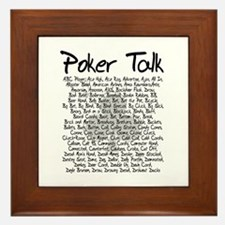 Poker Talk (Poker Terms) Framed Tile