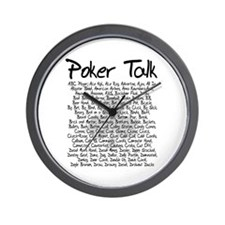 Poker Talk (Poker Terms) Wall Clock