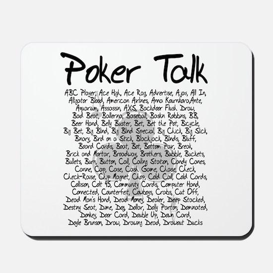 Poker Talk (Poker Terms) Mousepad