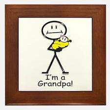 New Grandpa Baby Girl Framed Tile