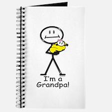 New Grandpa Baby Girl Journal