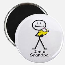 New Grandpa Baby Girl Magnet