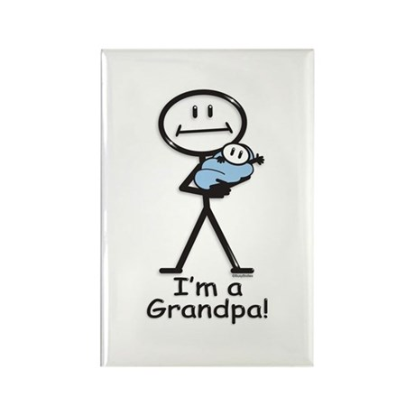 New Grandpa Baby Boy Rectangle Magnet (100 pack)