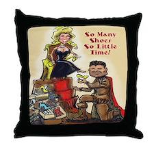 Cute Shoppaholic Throw Pillow