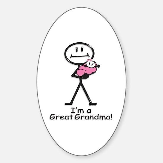Great Grandma Baby Girl Oval Decal