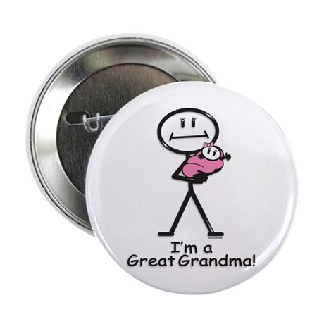 """Great Grandma Baby Girl 2.25"""" Button (100 pack)"""