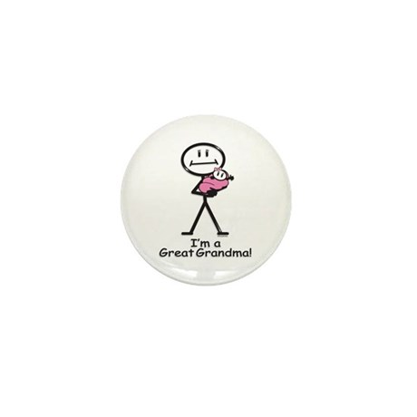 Great Grandma Baby Girl Mini Button