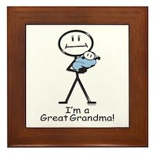 Great Grandma Baby Boy Framed Tile