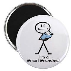 Great Grandma Baby Boy Magnet