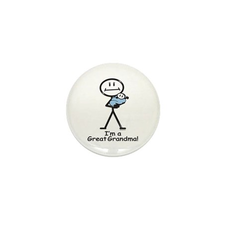 Great Grandma Baby Boy Mini Button