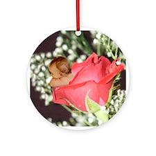 Rose Flower Baby Ornament (Round)