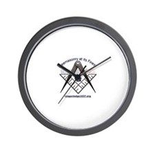 Cool Square and compasses Wall Clock