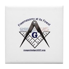 Unique Masonic lodge Tile Coaster