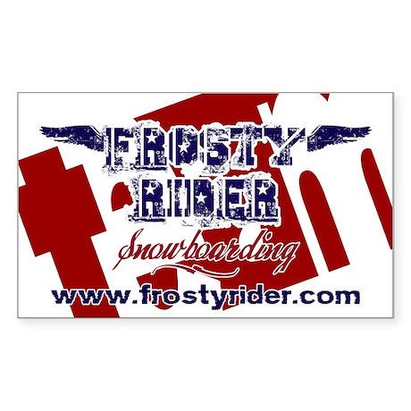Frosty Rider Team Rectangle Sticker 10 pk)