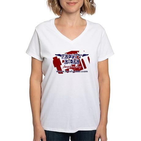 Frosty Rider Team Women's V-Neck T-Shirt