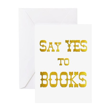 Yes to Books Greeting Card