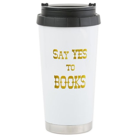Yes to Books Stainless Steel Travel Mug