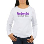 Mom Knows Best Women's Long Sleeve T-Shirt