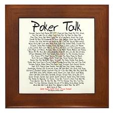 Poker Talk (Poker Terms) Framed Tile