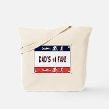 Dad's #1 Fan Tote Bag