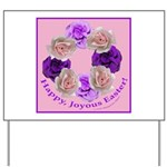 Circle of Roses, Happy Easter Yard Sign