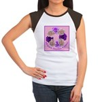 Circle of Roses, Happy Easter Women's Cap Sleeve T