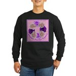 Circle of Roses, Happy Easter Long Sleeve Dark T-S