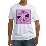 Circle of Roses, Happy Easter Fitted T-Shirt