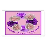 Circle of Roses, Happy Easter Rectangle Sticker