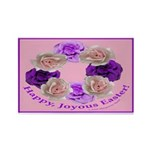 Circle of Roses, Happy Easter Rectangle Magnet