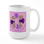 Circle of Roses, Happy Easter Large Mug