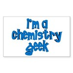 I'm a chemistry Geek Rectangle Sticker 50 pk)