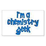 I'm a chemistry Geek Rectangle Sticker
