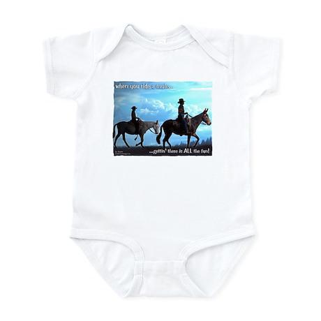 Trail Riding Mules Infant Bodysuit