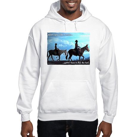 Trail Riding Mules Hooded Sweatshirt