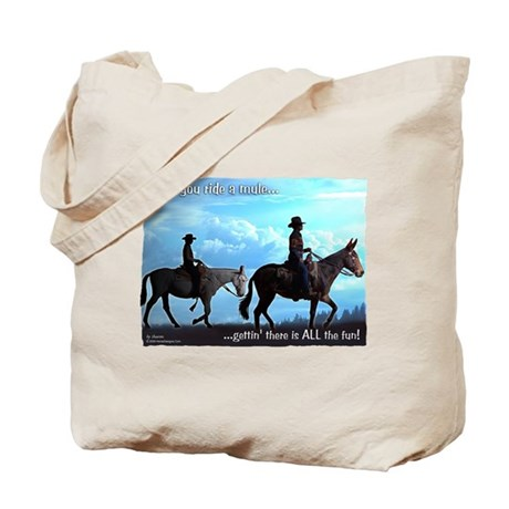 Trail Riding Mules Tote Bag