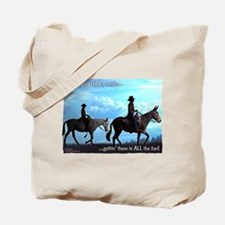 Trail Riding Mules Tote Bag
