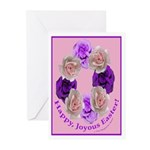 Circle of Roses, Happy Easter Greeting Cards (Pk o