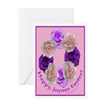 Circle of Roses, Happy Easter Greeting Card