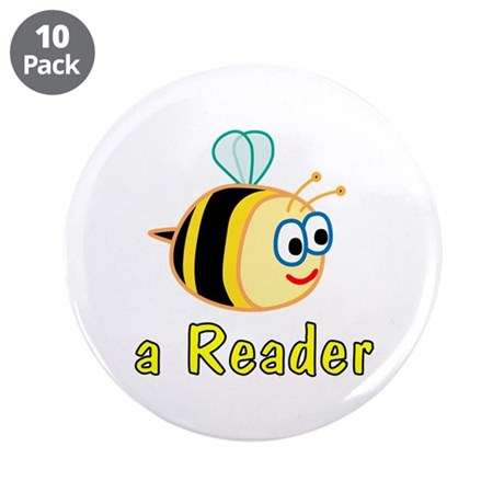 """Book Reading 3.5"""" Button (10 pack)"""