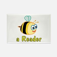 Book Reading Rectangle Magnet