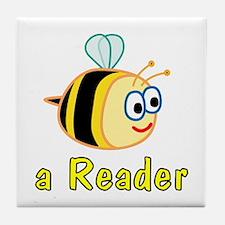 Book Reading Tile Coaster