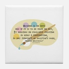 Nursing is an Art Tile Coaster