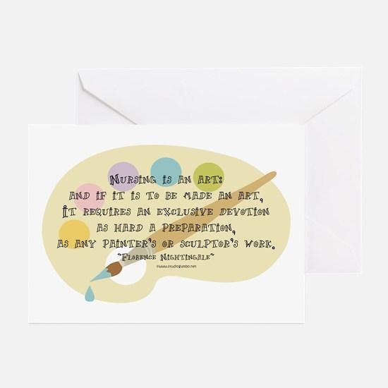 Nursing is an Art Greeting Cards (Pk of 10)