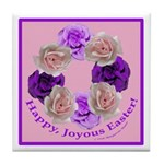 Circle of Roses, Happy Easter Tile Coaster