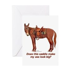 Ass Look Big Mule Greeting Card